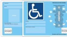 Nuovi contrassegni europei per il parcheggio dei disabili