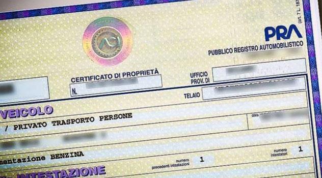 certificato di proprieta